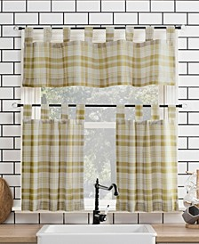 Blair Farmhouse Plaid Tier and Valance Collection