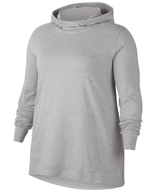 Nike Plus Size Dri Fit Yoga Cover Up Hoodie Reviews Tops Plus Sizes Macy S