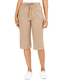 Cropped Cotton Pull-On Pants, Created for Macy's