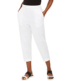 Organic Cropped Slouchy Pants, Regular & Petite, Created for Macy's