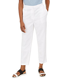 Eileen Fisher Organic Cotton Tapered Ankle Pants, Regular & Petite Sizes, Created for Macy's