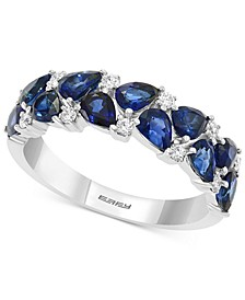 EFFY® Sapphire (2 ct. t.w.) & Diamond (1/6 ct. t.w.) Ring in 14k White Gold