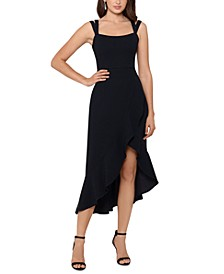 Double-Strap High-Low Midi Dress