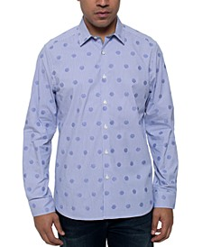 Men's Mirror Stretch Dot Stripe Shirt