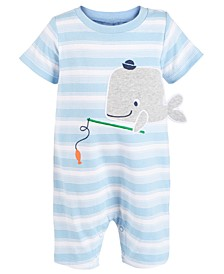 Baby Boys Striped Whale Cotton Sunsuit, Created For Macy's
