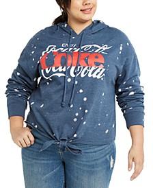 Trendy Plus Size Splatter Coca-Cola Hoodie
