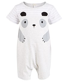 Baby Boys Panda Cotton Sunsuit, Created For Macy's