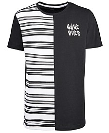 Big Boys Striped Spliced T-Shirt, Created for Macy's