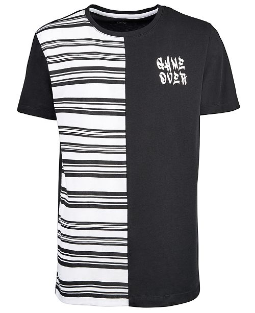 Ideology Big Boys Striped Spliced T-Shirt, Created For Macy's