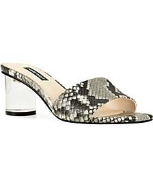 Fab Lucite-Heel Sandals