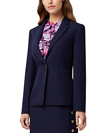 Petite One-Button Blazer