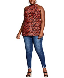 Trendy Plus Size Leopard-Print Top