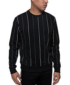 Men's Striped Logo Sweater