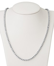 "Certified Diamond All-Around 17"" Tennis Necklace (11 ct. t.w.) in 14k White Gold"