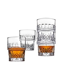 Dublin Stackable Double Old Fashioned Glass, Set of 4