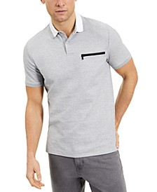 Men's Regular-Fit Zip-Pocket Polo Shirt