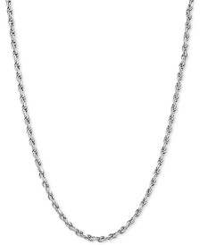 "Rope Link 20"" Chain Necklace in Sterling Silver"