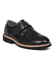 Little Boys and Big Boys Chavis Easy On Classic Dress Comfort Hook and Loop Closure Slip-on