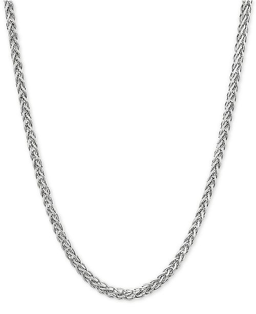 """Macy's Wheat Link 20"""" Chain Necklace in Sterling Silver"""