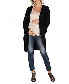 Circle Shape Long Sleeve Maternity Cardigan