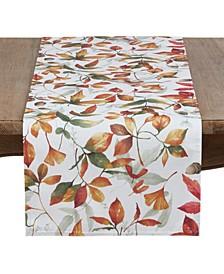 Fall Leaves Design Runner In Soft Tones