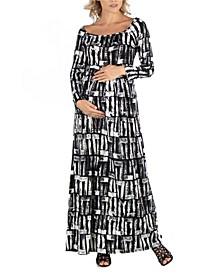 Sleeve Maternity Maxi Dress