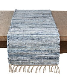 Long Table Runner with Chindi Woven Design