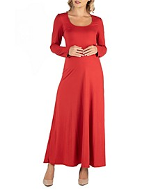 Long Sleeve T-Shirt Maternity Maxi Dress