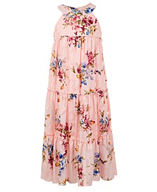 Big Girls Burnout Chiffon Maxi Dress