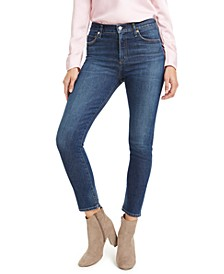 Harlow Ankle Mid Rise Slim-Fit Jeans