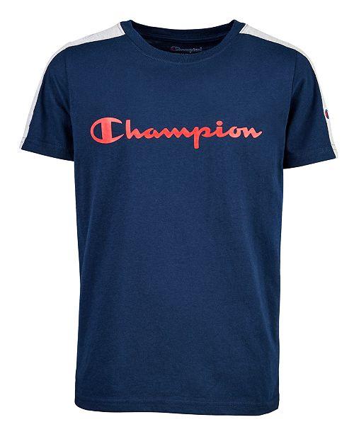 Champion Big Boys Colorblocked Logo-Print T-Shirt