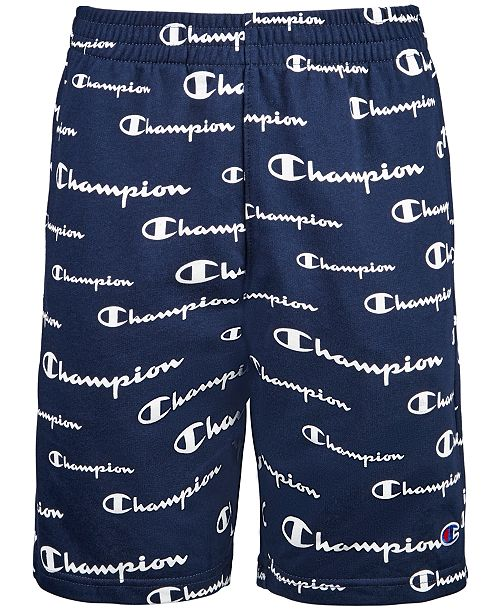 Champion Toddler Boys Script Logo-Print French Terry Shorts