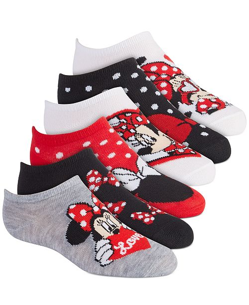 Minnie Mouse Disney's® 6-Pack No-Show Socks, Little Girls & Big Girls