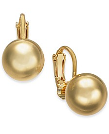 Gold-Tone Bead Clip-On Stud Earrings, Created For Macy's