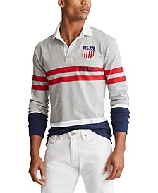 Men's Big & Tall Classic Fit Cotton Jersey Rugby Shirt