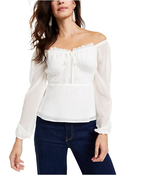 Q & A Off-The-Shoulder Top