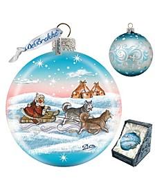 Northern Light Ball Glass Ornament