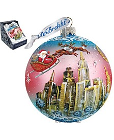 Up-Up and Away Ball Glass Ornament