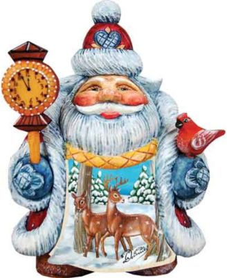 Mini Debrekht Tale Illustrated Santa With Pets G