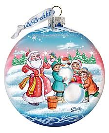 Christmas Village Ball Glass Ornament