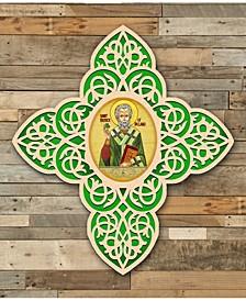 Celtic Saint Patrick Cross Wall Art Arch Shape Icon