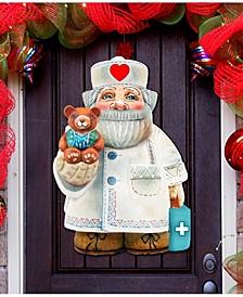 Teddy Bear Doctor Christmas Door Hanger