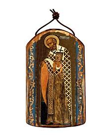 Saint Nick Wooden Greek Christian Orthodox Icon Ornament