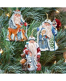 Story of Father Frost Ornaments, Set of 3
