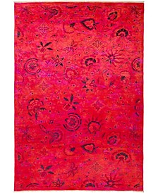 """CLOSEOUT! One of a Kind OOAK2720 Pink 5'10"""" x 8'8"""" Area Rug"""