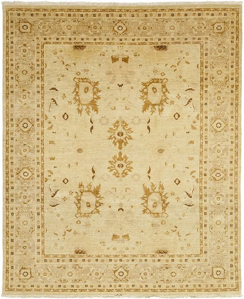 """Timeless Rug Designs CLOSEOUT! One of a Kind OOAK112 Flax 8"""" x 9'9"""" Area Rug"""