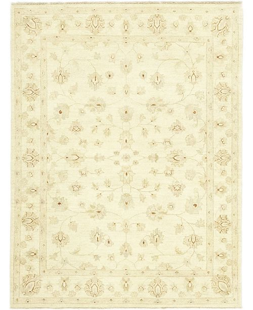 """Timeless Rug Designs CLOSEOUT! One of a Kind OOAK202 Cream 4'10"""" x 6'6"""" Area Rug"""