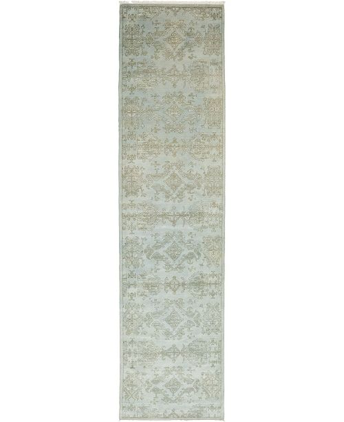 """Timeless Rug Designs CLOSEOUT! One of a Kind OOAK235 Mint 3' x 12'3"""" Runner Rug"""