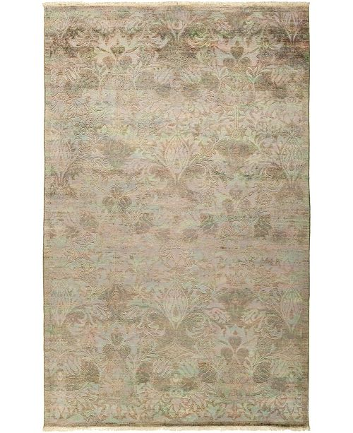 "Timeless Rug Designs CLOSEOUT! One of a Kind OOAK473 Hazelnut 5'1"" x 8'1"" Area Rug"