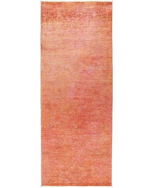 """Timeless Rug Designs CLOSEOUT! One of a Kind OOAK483 Coral 4' x 10'4"""" Runner Rug"""